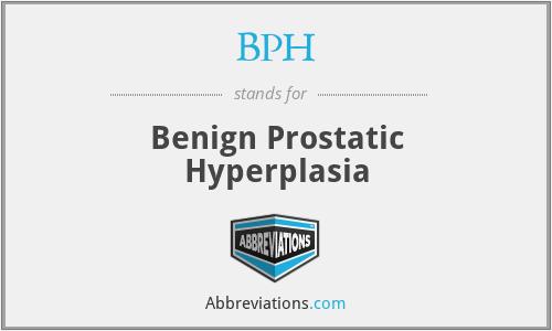 BPH - Benign Prostatic Hyperplasia