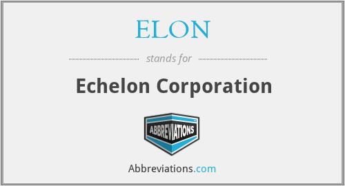 ELON - Echelon Corporation