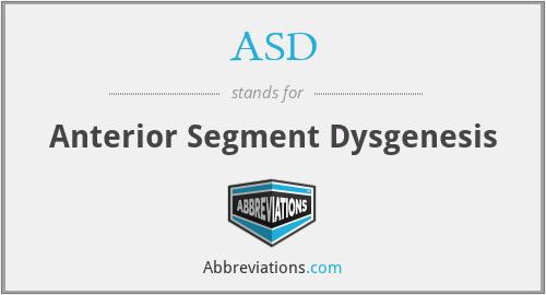 ASD - Anterior Segment Dysgenesis