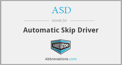 ASD - Automatic Skip Driver