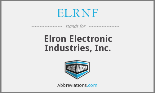 What does ELRNF stand for?