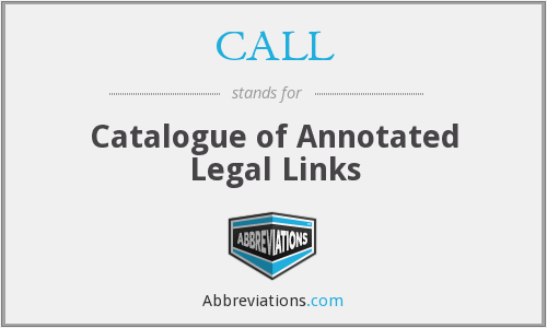 CALL - Catalogue of Annotated Legal Links