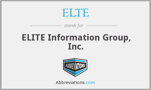 What does ELTE stand for?