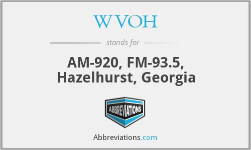 WVOH - AM-920, FM-93.5, Hazelhurst, Georgia