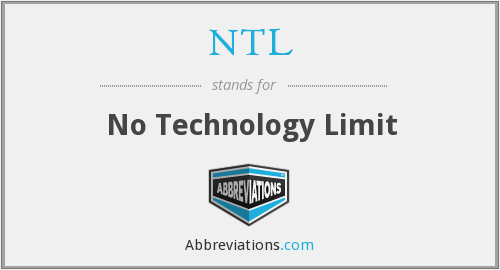 NTL - No Technology Limits