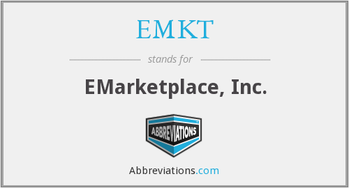 What does EMKT stand for?