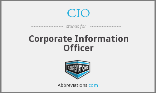 CIO - Corporate Information Officer