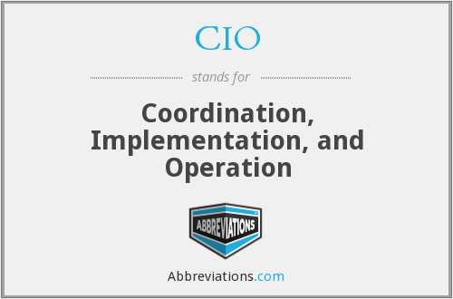 CIO - Coordination, Implementation, and Operation