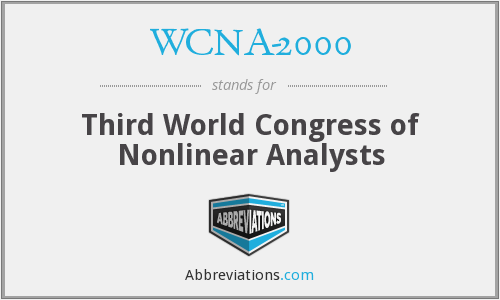 What does WCNA-2000 stand for?
