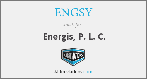 What does ENGSY stand for?