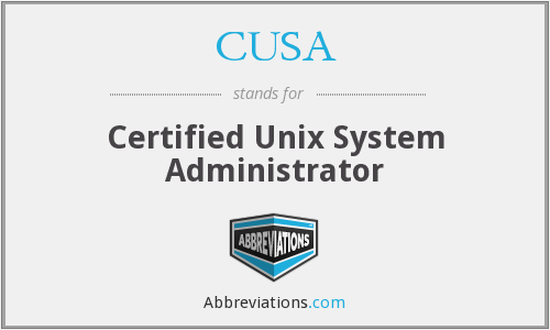 CUSA - Certified Unix System Administrator