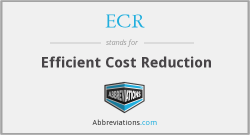 ECR - Efficient Cost Reduction