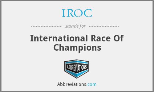 IROC - International Race Of Champions