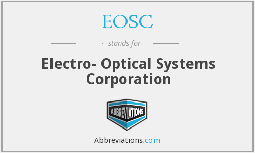 What does EOSC stand for?