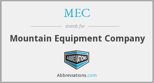 MEC - Mountain Equipment Company