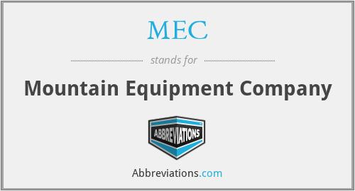 MEC - Mountain Equipment Company