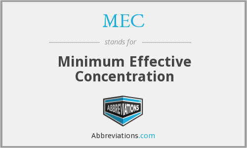 MEC - Minimum Effective Concentration