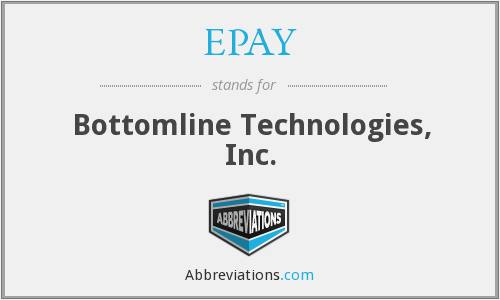 EPAY - Bottomline Technologies, Inc.