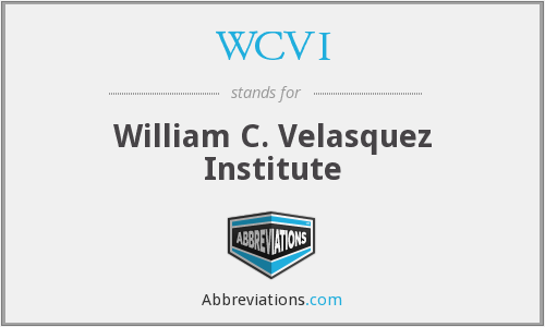 WCVI - William C. Velasquez Institute