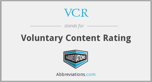 VCR - Voluntary Content Rating