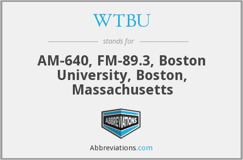 What does WTBU stand for?