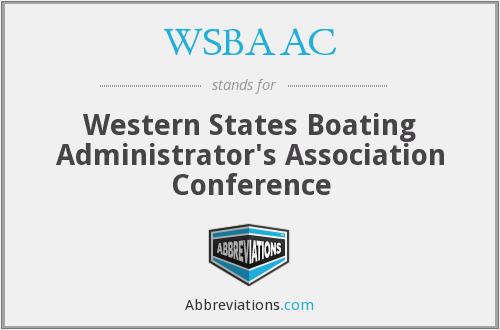 WSBAAC - Western States Boating Administrator's Association Conference