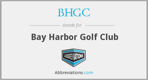 BHGC - Bay Harbor Golf Club