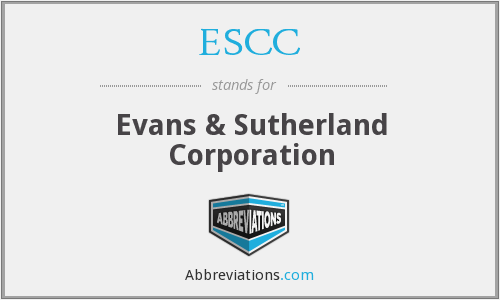 What does ESCC stand for?
