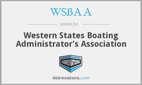 WSBAA - Western States Boating Administrator's Association