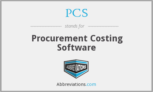 PCS - Procurement Costing Software