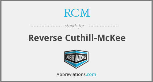 RCM - Reverse Cuthill-McKee