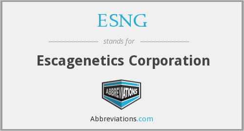 What does ESNG stand for?