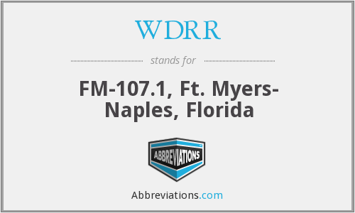 What does WDRR stand for?