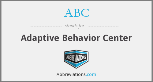 ABC - Adaptive Behavior Center