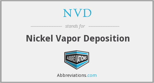 NVD - Nickel Vapor Deposition