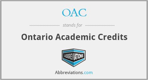 OAC - Ontario Academic Credits