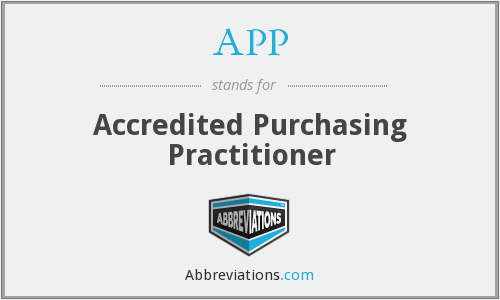 APP - Accredited Purchasing Practitioner