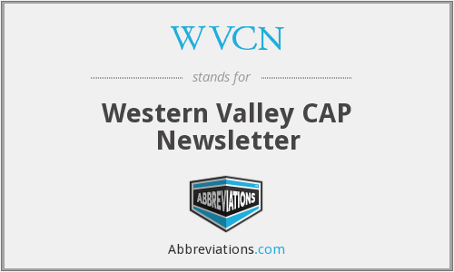 WVCN - Western Valley CAP Newsletter