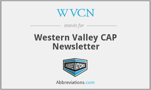 WVCN - Western Valley CAP Newsletter