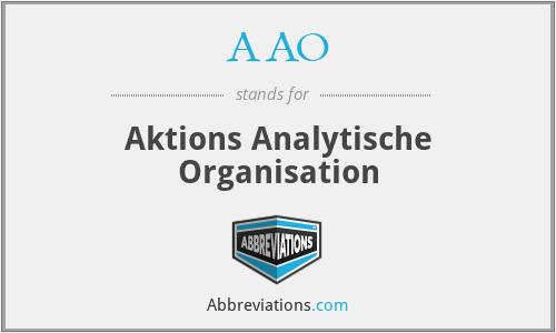 AAO - Aktions Analytische Organisation