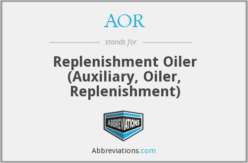 AOR - Replenishment Oiler (Auxiliary, Oiler, Replenishment)