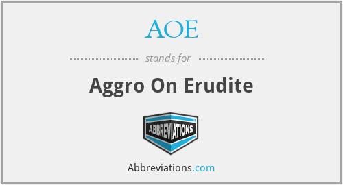 AOE - Aggro On Erudite