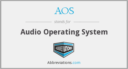 AOS - Audio Operating System
