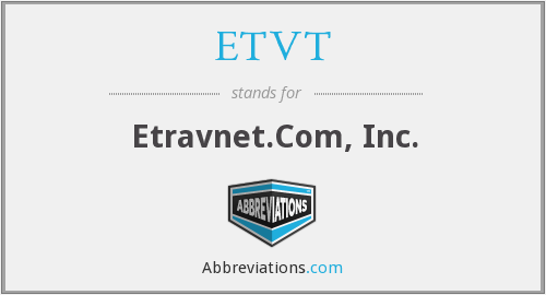 What does ETVT stand for?