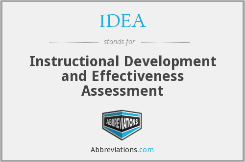IDEA - Instructional Development and Effectiveness Assessment