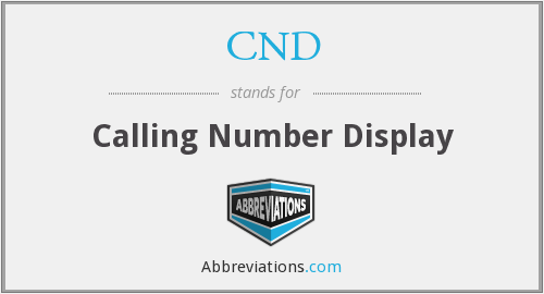 CND - Calling Number Display
