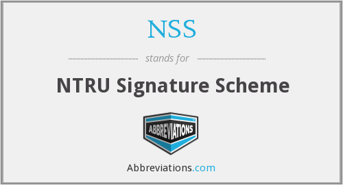 NSS - NTRU Signature Scheme