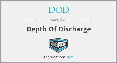 DOD - Depth Of Discharge