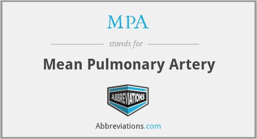 MPA - Mean Pulmonary Artery