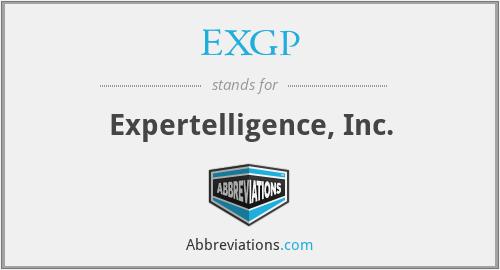 EXGP - Expertelligence, Inc.